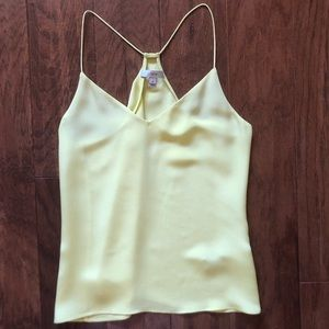 J.Crew 100% Silk Pale Yellow Camisole